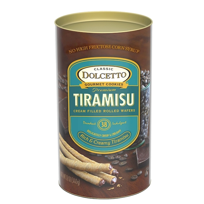 Dolcetto Tiramisu Wafer Rolls 4.4 oz Box